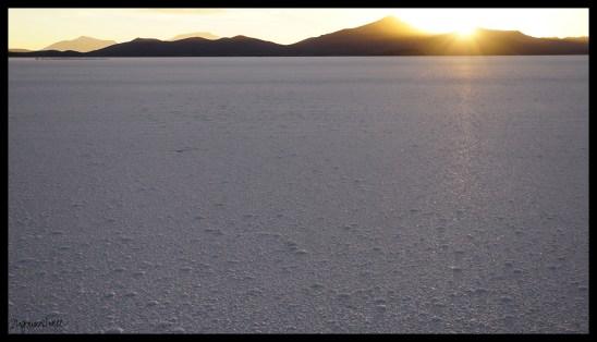 Sunset, Salt Flats