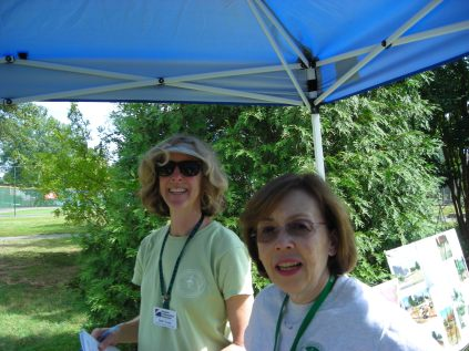 Simpson regulars Beth Tindal and Catherine Barry helped organize and staff the September 28 Open House.