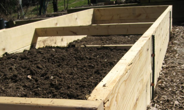 A flower bed in the making. Soil is a 'bank' for nutrients that are taken up by plants, and these nutrients must be replenished for continued plant growth.