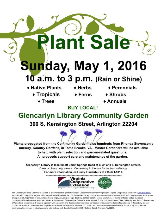 Glencarlyn Plant Sale 2016