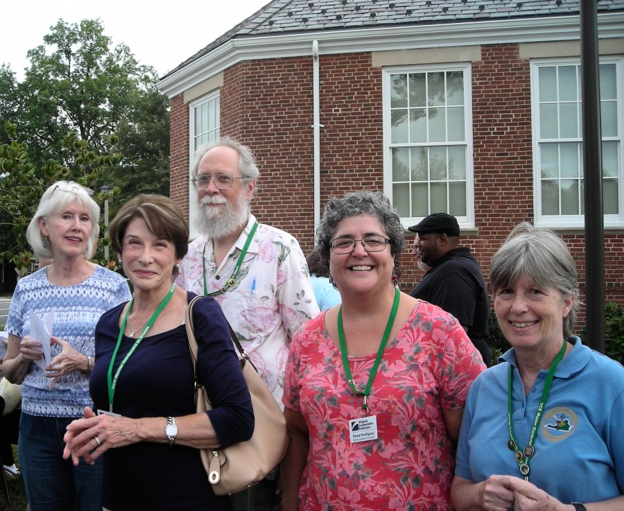 Master Gardeners Joyce Hilton, Carol Golberg, Peter Hickmand, Elena Rodriguez and Sue McIver