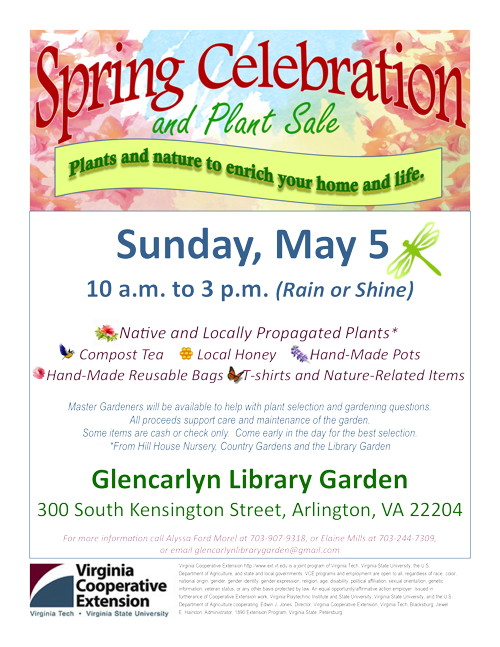 Flyer about Glencarlyn Spring Celebration