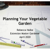 2020 April Planning Vegetable Garden