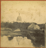 View of original Conservatory in relation to the Capitol, 1865 (Photo: Architect of the Capitol)