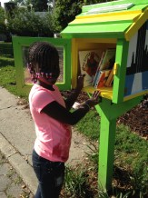 Books are free for Kids in Marcus Garvey Park.