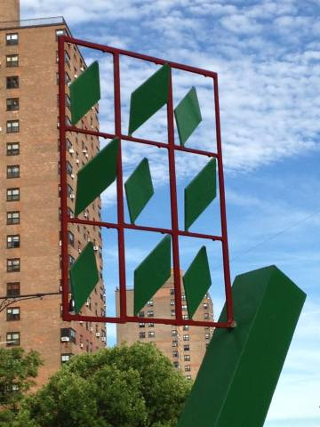 Palenque, Jorge Luis Rodriguez, 1987 Presented by the Marcus Garvey Park Alliance in partnership with the artist and the Department of Transportation's Art Program. On view June 9, 2016 to May 9, 2017 East 106th Street at Third Avenue