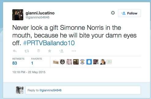 Cursor_e_gianni_lucatino_on_Twitter___Never_look_a_gift_Simonne_Norris_in_the_mouth__because_he_will_bite_your_damn_eyes_off___PRTVBallando10_