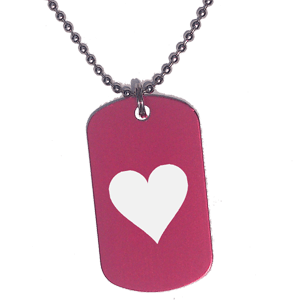 Placa Rojo Corazón