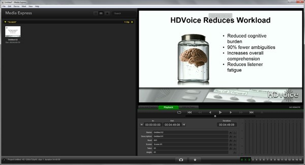 BMD Desktop Video Utility Screenshot