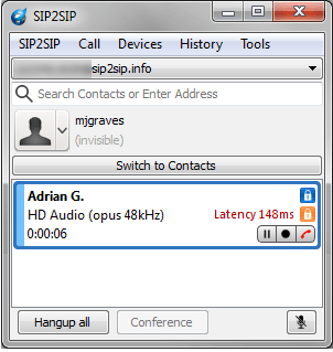 Blink Windows Opus Test Call