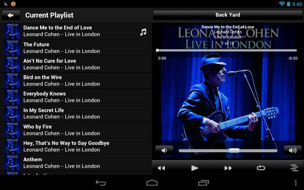 Logitech Squeezebox Remote On Nexus7