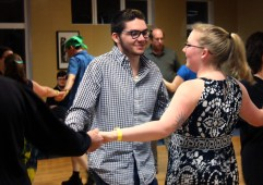 USC students, Carter Taylor and Samantha Fladung attend the ContraCola dance on Feb. 18. This was Carter's first dance.