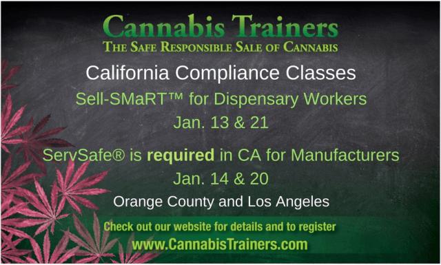 Cannabis Trainers California Compliance Class