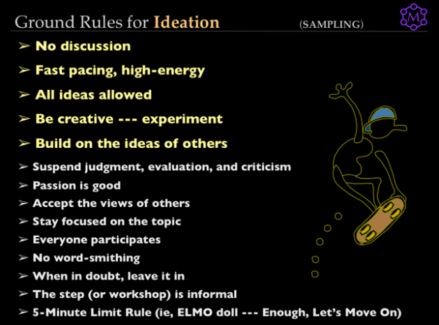 Ideation Ground Rules
