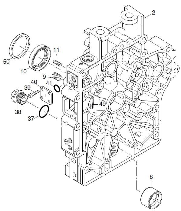 HATZ 1B40 1B50 panewka główna STD 04288700 MGS-Technics