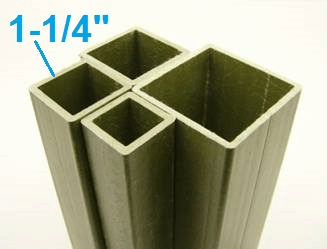 "1-1/4"" On-Side Square Tube"