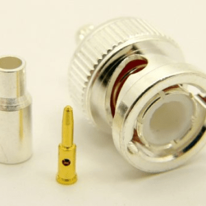 BNC-male, cable end, crimp-on for RG-174 RG-316 and LMR-100A (P/N: 7005-174)