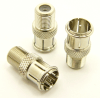F-male / F-female Adapter, Quick Connect (P/N: 7230-QC)