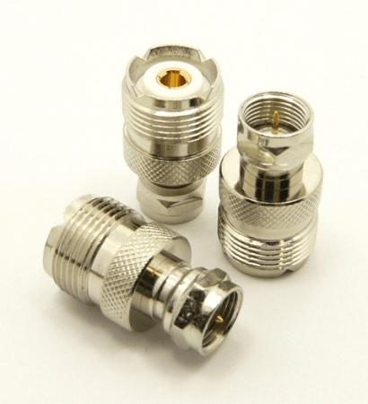 UHF-female / F-male Adapter (P/N: 7248)