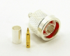 N-male, cable end, crimp-on for RG-223 RG-59 LMR-240 and RG-8X mini 8 (P/N: 7305-8X)