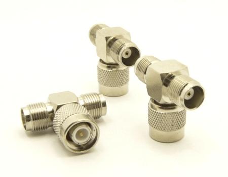 TNC-female / TNC-male / TNC-female Adapter, Tee (P/N: 7448-T)