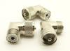 UHF-male / UHF-female Adapter, Right Angle (P/N: 7525-RA)