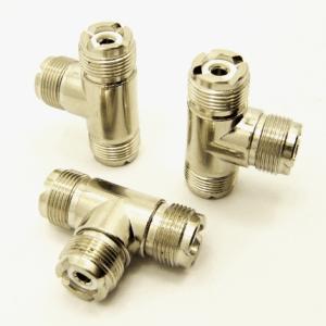 UHF-female / UHF-female / UHF-female Adapter, Tee (P/N: 7527-T)