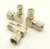 mini-UHF-male / mini-UHF-female Adapter, Right Angle (P/N: 7615-RA)