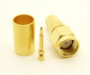 SMA-male, cable end, crimp-on for RG-223 RG-59 LMR-240 and RG-8X mini 8 (P/N: 7805-8X)
