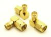 SMA-male / SMA-female Adapter, Right Angle (P/N: 7840-RA)