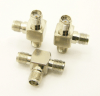 SMA-female / SMA-female / SMA-female Adapter, Tee (P/N: 7842-T)