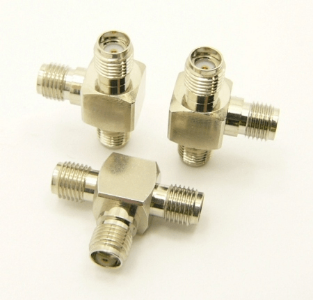 SMA-female / SMA-female / SMA-female Adapter, Tee (P/N: 7842-T)