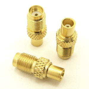 SMA-female / MCX-female Adapter (P/N: 8103)