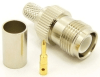 RP-TNC-female, cable end, crimp-on for RG-223 RG-59 LMR-240 and RG-8X mini 8 (P/N: 8906-8X)