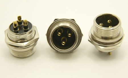 3-pin chassis mount female microphone connector (P/N: 9303-PANEL)