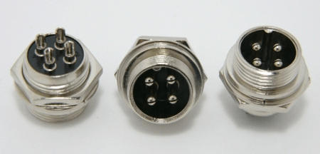 4-pin chassis mount female microphone connector (P/N: 9304-PANEL)