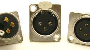 XLR female, bulkhead, 3 pins, Mic Jack (P/N: 9411)