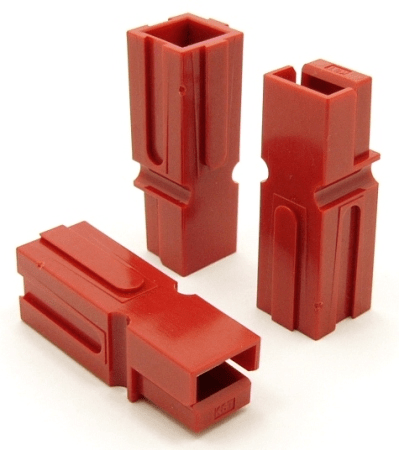 Power Pole Housing (RED) for 75 amp contacts. Good for 6 Gauge Wire (P/N: 9602-R)