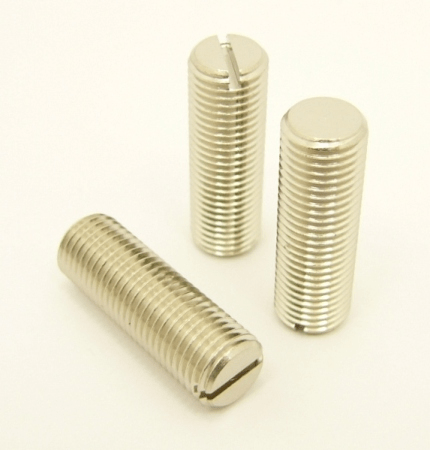 3/8 x 24 threaded, Double Male stud with flat slot, 1.125 inches long (P/N: 9914)