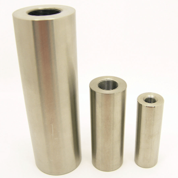 Stainless Steel Coupler Parts for Fiberglass Round Solid Rod and Tube