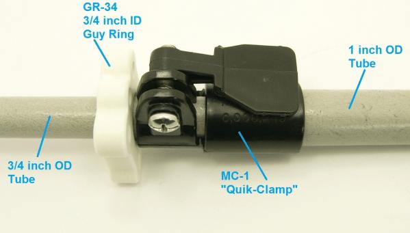 """Quik-Clamp"" Telescoping Tube Clamps"