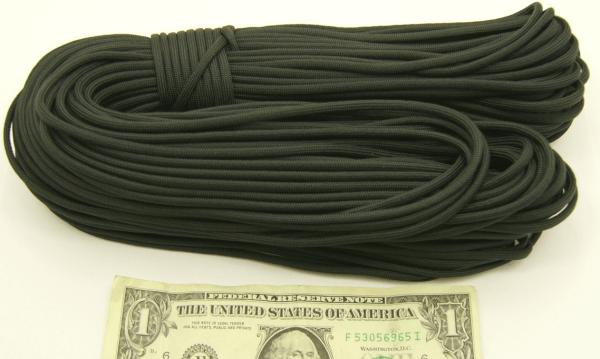 1/8 inch, Black Dacron Guy Rope