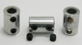 Shaft Coupling 1/4 inch to 1/4 inch Shaft Coupling - Max-Gain Systems, Inc.