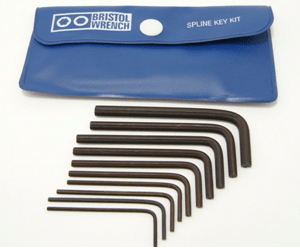 SS-408 Bristol Spline L-Key Kit