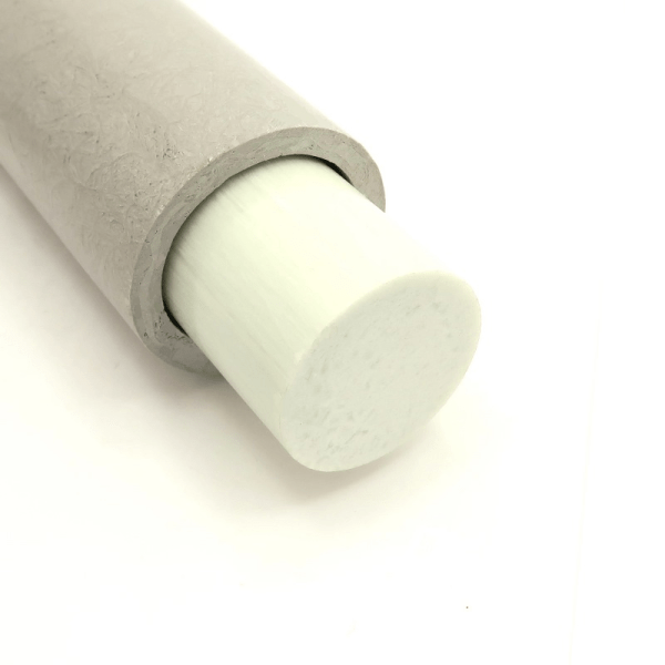 RT-2-QTR 2 inch OD, 1.5 inch ID, 0.25 inch WALL Round Fiberglass Tube accepts our RSR-112 1.5 inch OD Rould Solid Rod