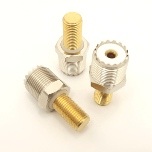 9905 UHF female to 3/8 x 24 male threaded adapter. - Max-Gain Systems, Inc.