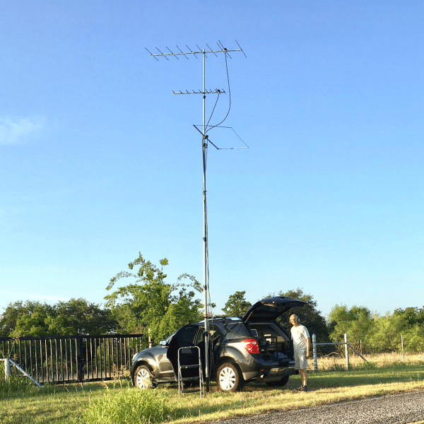 K5ND ARRL contest rig Drive On Mount and Heavy Duty Mast