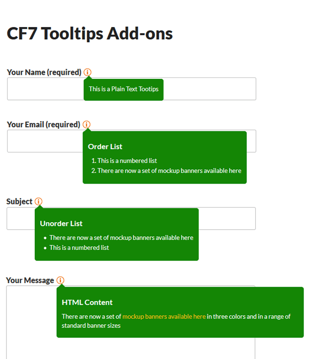 mgscformsevenTooltips Features