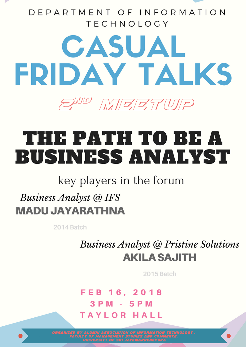 Casual Friday Talk – 2nd Meetup