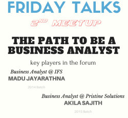 Casual Friday Talk – 2nd Meetup
